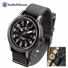 Smith & Wesson Black Canvas Tactical Military Case 30m Water Resistant Watch