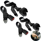 2x Universal Retractable 3 Point Seat Belt Car Vehicle Safety Harness Set