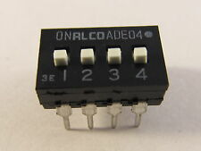 10 Stück ADE04A - ALCO 4pol DIP-Schalter Switch Codierschalter (AE19/7894) 10pcs