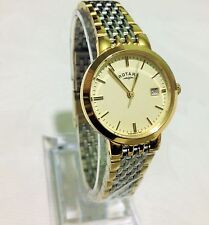 Ladies Rotary watch Self Adjustable Gold plated two tone New