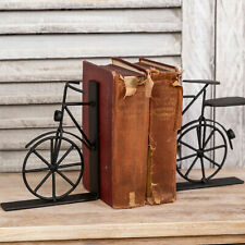 Industrial Pair Of Bike Bookends Metal Vintage Style Ornament Living Home Decor