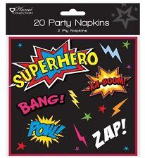 Paquete de 20 Fiesta De Cumpleaños Infantil Servilletas de papel - Niños / niña