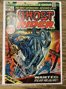Ghost Rider #1/Bronze Age Marvel Comic Book/'/1st Damion Hellstrom/GD-