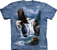 """NEW - The MOUNTAIN T-Shirt """"Majestic Flight"""" Bald  Eagles Adult Size XL"""