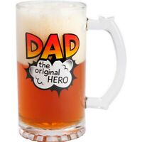 Dad Beer Mug Stein Glass Fathers Day Novelty Gift Christmas Birthday Glass New