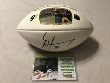 Greg Jennings Green Bay Packers Autographed Football W/ COA Legends Of The Field