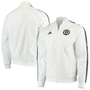 Adidas MLS Philadelphia Union Anthem Jacket White/Black Sz XL DP5022