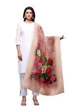 Women Jacquard Banarasi Silk Dupatta Tippet Scarf Traditional Wear
