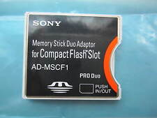 Sony memory stick duo adapter AD-MSCF1 MS to compactflash CF Type II Adapter