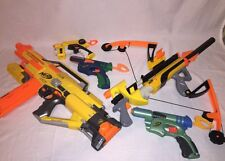 Lot Of 7 Nerf Guns And Accessories Stampede Bow Red Dot Darts