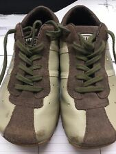 Diesel Evelyn Women's Size 1Y Tan Leather & Suede Shoes Sneakers