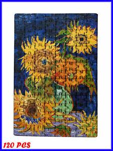 Vincent van Gogh - Vase with Five Sunflowers Art - 120 Piece Jigsaw Puzzle