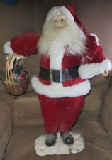 "VINTAGE STANDING CHRISTMAS SANTA CLAUS DOLL STORE DISPLAY 22"" TALL"