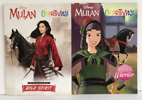New 2 Disney Princess Mulan Colortivity Coloring Activity Books New Girls