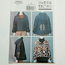 Marcy Tilton Jacket Wearable Art 16 18 20 22 Vogue Designer Pattern V8620 Uncut