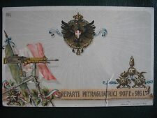 CARTOLINE MILITARI PRIMA GUERRA REPARTI MITRAGLIATRICI 1917 ORIGIN WW1 POSTCARD