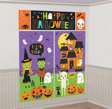 FRIENDLY HAPPY HALLOWEEN KiDs Scene Setter Party Wall Decorations Trick or Treat
