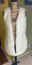 ESS Outerware ME JANE WHITE Faux Mongolian Curly Fur Vest blush Size Large