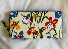 2f9c39a861c Tory Burch Printed Leather Floral Zip CONTINENTAL Wallet in Painted Iris
