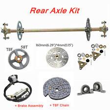 Go-Kart Rear Axle Kit Brake Disc Hydraulic Master Caliper Chain Sprocket Bearing