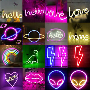 Neon Sign Light LED Wall Lights Light Up Art Lamp for Kids Bedroom Bar Home Deco