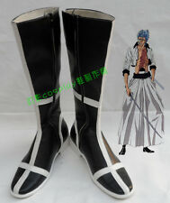 Bleach Grimmjow Jeagerjaques Black Halloween Long Cosplay Shoes Boots H016