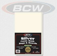 BCW - 50 Silver Comic Book Bags Hüllen Resealable & 50 Boards als Set NEU & OVP