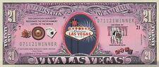 Las Vegas Novelty Bill - NOT REAL Money, LV Sign, Gambling, Viva -- NOT Postcard