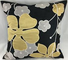 Bordado de oro y plata flores cubierta Cojín relleno Evans Lichfield