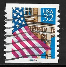 U.S. Scott #2915A 32-Cent Flag Over Porch Plate #88898 USED PS1 FVF Cat. $113.30
