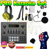V9 Karaoke Machine Live Stream Bluetooth Home Audio Microphone Headphone