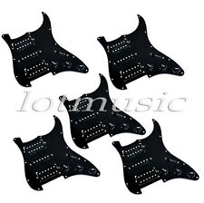 Guitar Loaded Pickguard Wired Plate for Stratocaster Strat Parts Black HSH 5 pcs