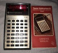 Texas Instruments TI-30 Vintage 70's Calculator w/ Manual (Battery Not Included)