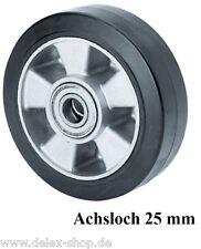 schwarzes thermoplastisches Gummirad ø 250 mm Rollenlagerung ø 25mm TK 295Kg