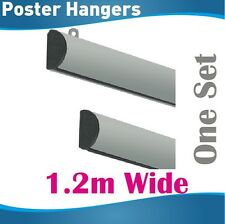 1.2m Poster Hangers Gripper Poster hanging rail hanging rails