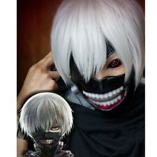 Japan Anime Tokyo Ghoul Ken Kaneki Cosplay Wig Synthetic Hair Halloween Party