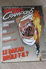 MOTO CRAMPONS N°46 CAGIVA 125 WMX YAMAHA YZ KTM MX SUZUKI RM PARIS-DAKAR 1989
