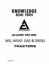 New Allis Chalmers WD-WD45 Tractor Service Manual Reproduction