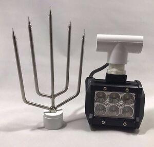 Flounder Gigging Light- Spear With PVC Head LED 18 Watts 1800 Lumens 12 Volt