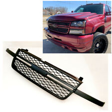 For 05 07 Chevy Silverado 1500 2500hd 3500 Front Upper Black Grille Replacement Fits 2005 Chevrolet Silverado 2500 Hd Ls