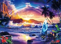 Lassen 2000 Pieces Jigsaw Glowing Puzzle Surf for Life Super Small Piece 38x53