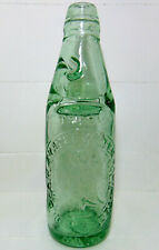 Owl Pictorial Codd Bottle - Oldham Aerated Water Company Lancashire c1890's