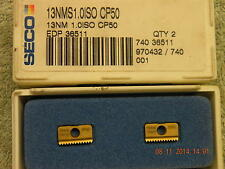 x2 SECO CARBIDE THREAD MILLING INSERTS 13NMS1.0ISO CP50 NEW