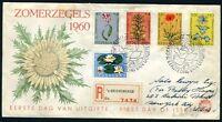 NETHERLANDS NVPH# E43 REGISTERED FDC 1960 TO NEW YORK 6/16/1960