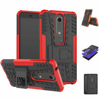 Shockproof Case Hard Protective Kickstand Slim Phone For Nokia 6.1(Nokia 6 2018)