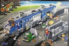 BanBao 8228 Remote Control Blues Cargo Train Building Block Set 1275pcs
