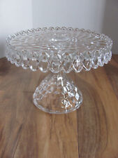 Fostoria American Clear Glass- Round Cake Stand or use as Chip & Dip