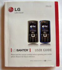 LG Banter Cell Phone Owner's Manual, English & Spanish Booklet