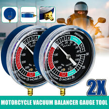 2x Vacuometro Sincronizzazione Bilanciatori Carburatori Manometro Gauge   H