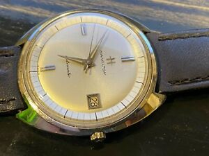 Vintage Hamilton mans automatic wrist watch Stainless steel